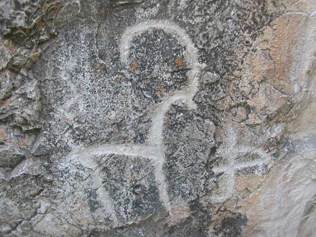 Petroglyphic paintings